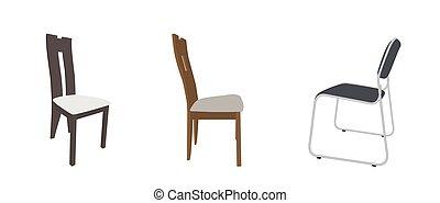 antiquité, ensemble, barre, chaises, moderne, confortable, meubles