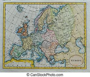 antiquité, europe, carte, original