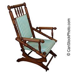 antiquité, fauteuil bascule