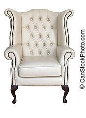 antiquité, fauteuil cuir