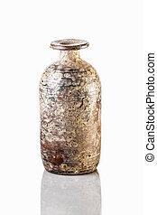 antiquité, fond blanc, chinois, vase