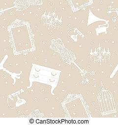 antiquité, fond, meubles