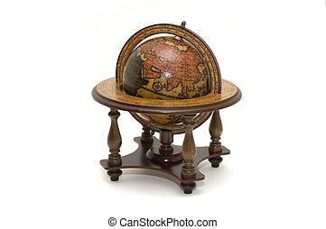 antiquité, globe terre
