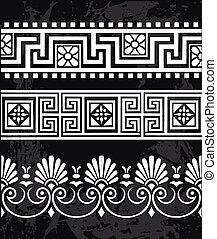 antiquité, grec, ensemble, ornements