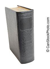 antiquité, livre cartonné, isolé, blanc