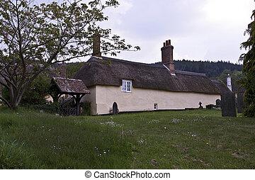 antiquité, maison, countrysid, anglaise