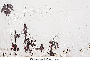 antiquité, mur,  image, béton, fond, toqué