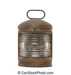 antiquité, nautique, lanterne