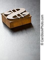 antiquité, oeil caractère, dollar