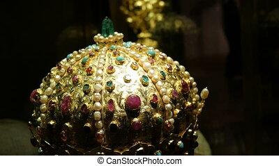 antiquité, officiel, autre, décoré, vendange, vrai, saphirs...