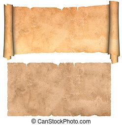 antiquité, parchment.
