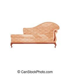 antiquité, plat, furniture., trim., room., sofa, classique, object., divan, retro, vecteur, beige, vendange, intérieur, vivant, doux, icône