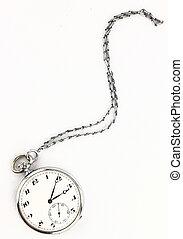 antiquité, poche, chaîne, horloge