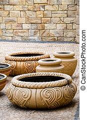 antiquité, potteries, vieux