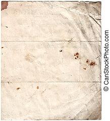 antiquité, pourri, papier, (inc, coupure, path)
