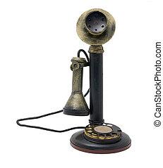 antiquité, réaliste, téléphone