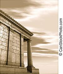 antiquité, render, classique, architecture romaine, monument, 3d