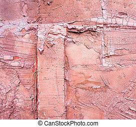 antiquité, rose, mur,  image, béton, fond, toqué