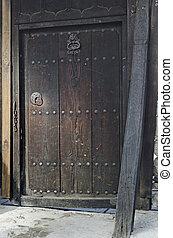 antiquité, rue, authentique, porte