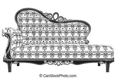 antiquité, sofa