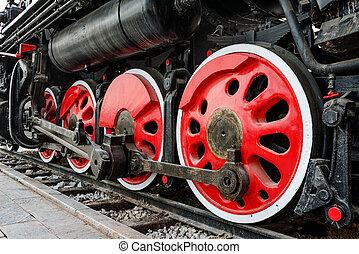 antiquité, train, vapeur