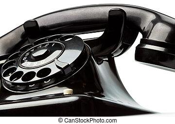 antiquité, vieux, téléphone., retro