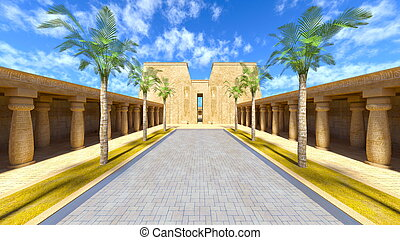 Antiquity - 3D CG rendering of the antiquity.