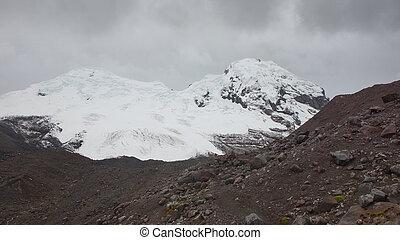antisana, -, nublado, ecológico, volcán, vista, día,...