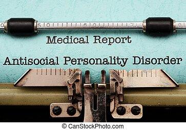 antisocial, desordem, personalidade