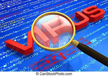 antivirus, bescherming, concept