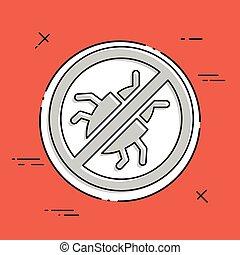 Antivirus concept - Minimal vector icon