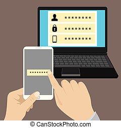 antivirus, protezione, linea, sicurezza, dati, software