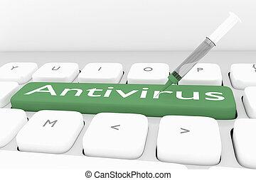 Antivirus - security concept