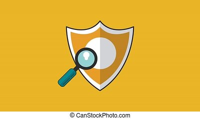 Antivirus security system HD animation - Shield antivirus ...