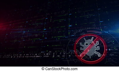 Antivirus symbol lower thirds background - Data protection ...