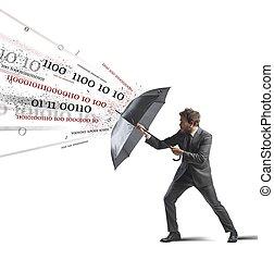 antivirus, y, cortafuegos, concepto
