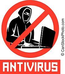 antivirus, znak