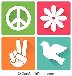 antiwar, appartamento, disegno, 4, icone