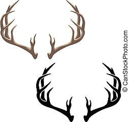 Antler Illustration - Very sharp clean illustration of deer ...