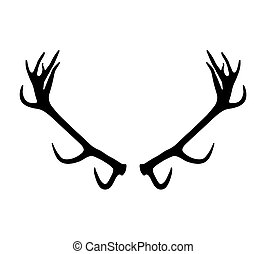 antlers silhouette