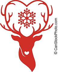 antlers, veado, cabeça, amor