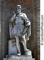 Antonio da Correggio. Garibaldi Square. Parma. Italy. - ...