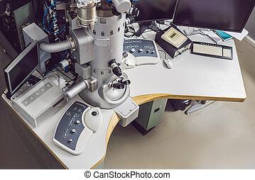 antreibstechnik, labor mikroskop, elektron, wissenschaftlich