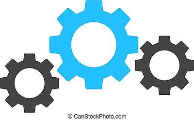 antreibstechnik, vektor, ausrüstung, abbildung, ikone