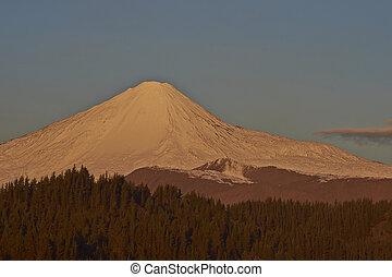 antuco, volcán, en, laguna, de, laja, parque nacional
