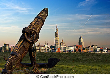 Antwerp and the river Scheldt