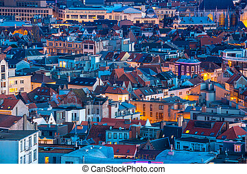Antwerp Belgium at dusk