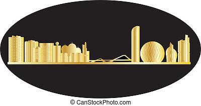 antwerp belgium city in gold