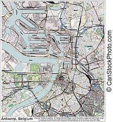 Antwerp Belgium city map