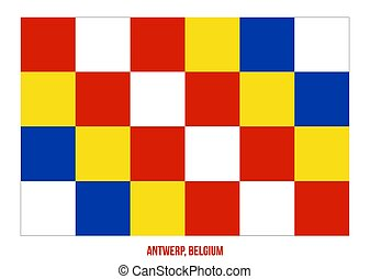 Antwerp Flag Vector Illustration on White Background. Provinces Flags of Belgium.